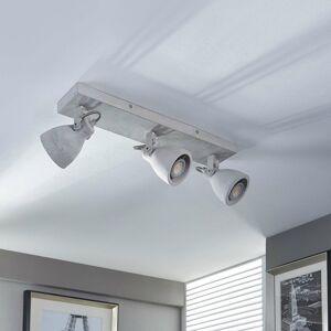 Lindby Betónové stropné LED svietidlo Kadiga 3-pl