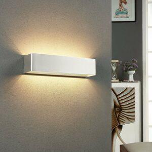 Lindby Nástenné LED svietidlo Lonisa, nikel, 37 cm