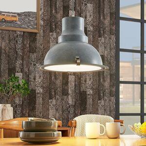 Lindby Betónovo-sivá kovová závesná lampa Percival