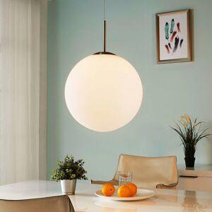 Lindby Guľová závesná lampa Marike biele opálové sklo