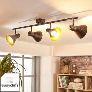 Lindby Štvor-plameňové stropné LED svietidlo Zera easydim