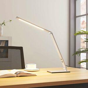 Lucande Hliníková LED lampa na písací stôl Nicano stmievač