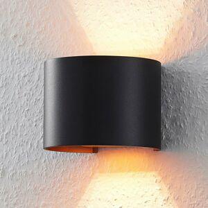 Arcchio Čierno–zlaté nástenné LED svietidlo Zuzana G9