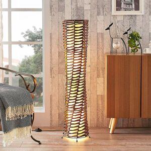 Lindby Dekoratívna stojaca lampa Joas do obývačky, hnedá