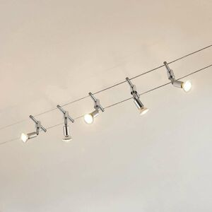 Lindby Lankový systém Rope so žiarovkami LED, 5 svetiel