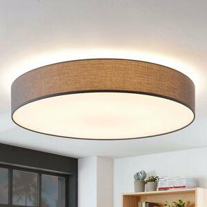 Lindby Látková stropná lampa Gordana sivá, 98 cm