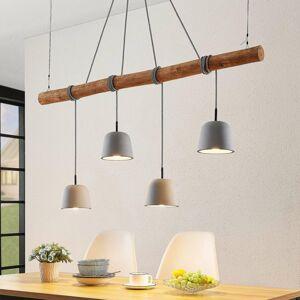 Lucande Lucande Asta závesná lampa, betónové tienidlá