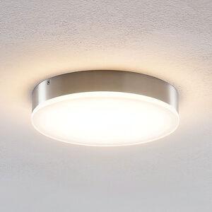 Lindby Lindby Leonta stropné LED svietidlo nikel, Ø 20cm