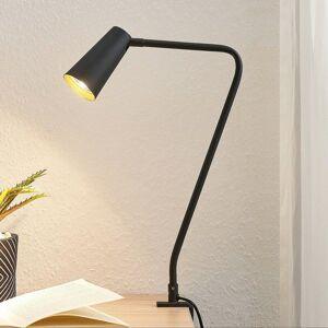 Lucande Lucande Angelina upínacia lampa, čierno-zlatá