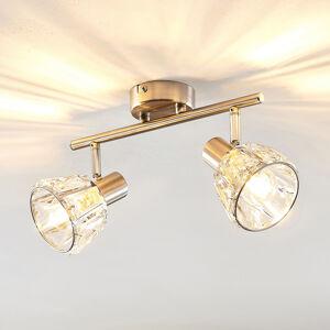 Lindby Lindby Kosta stropné svietidlo, 2-plameňové, nikel