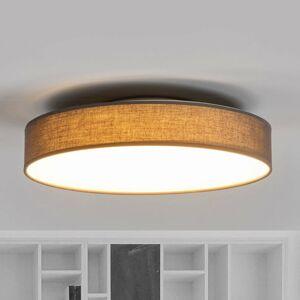 Lindby Látkové stropné LED svietidlo Saira 40 cm sivé