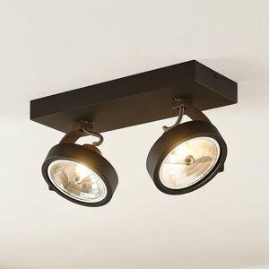 Arcchio Arcchio Dagur stropné svietidlo 2-plameňové čierne