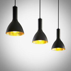 Arcchio Arcchio Cosmina závesná lampa 3-pl., dlhá čierna