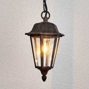 Lindby Vonkajšia závesná lampa Lamina v tvare lucerny