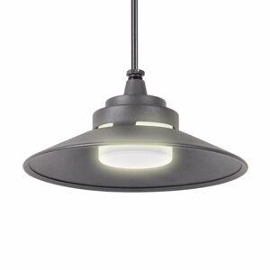 Lindby Vonkajšie závesné LED svietidlo Cassia tmavosivé
