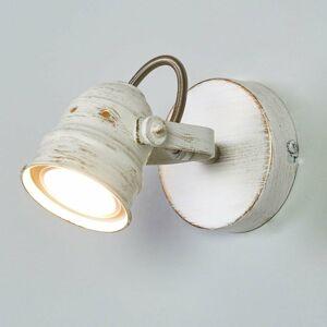 Lindby Biele bodové LED svetlo Leonor GU10 žiarovka