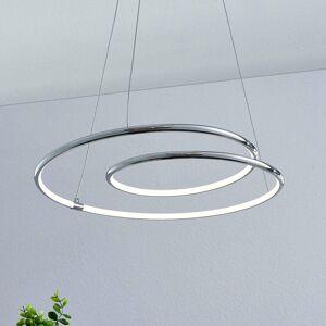 Lindby Lindby Lucy závesné LED svietidlo, 45cm, chróm