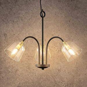 Lucande Lucande Anjita závesná lampa/sklené tienidlá/3 sv.