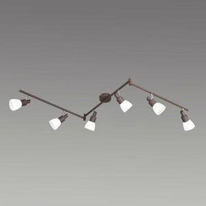 Wofi Stropné LED svietidlo Eve 6-pl. starožitná hnedá