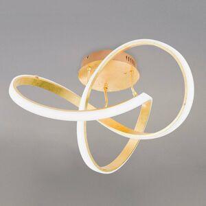 Wofi Stropné LED svietidlo Indigo zlatej farby