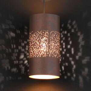Wofi Valcovitá závesná lampa Ancona, hnedá starožitná