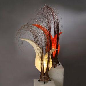 Woru Bunga stolná lampa v tvare kvetu, oranžová