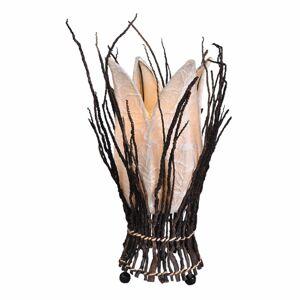 Woru Kvetinová stolná lampa Stella, krémová