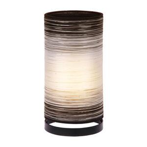 Woru Stolná lampa Julie ovinutá vláknami, biela