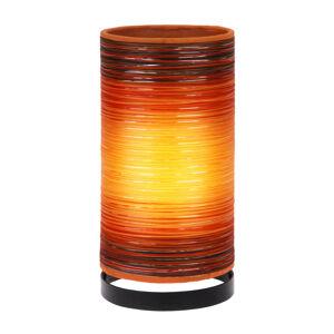 Woru Stolná lampa Julie ovinutá vláknami, oranžová