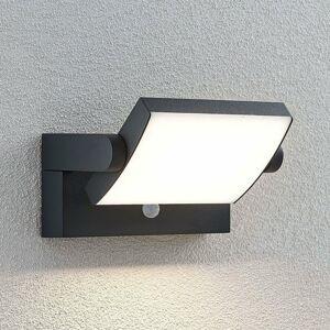 Lindby Vonkajšie nástenné LED svetlo Sherin otočné snímač