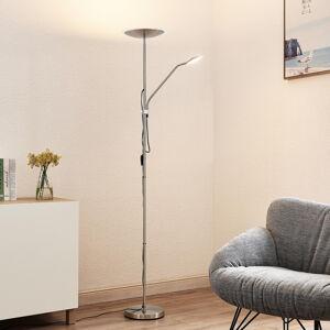 Lindby Lindby Heliani LED stojaca lampa, 2-pl., chróm