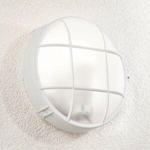 Lindby Vonkajšie nástenné svietidlo Alisha okrúhle biele