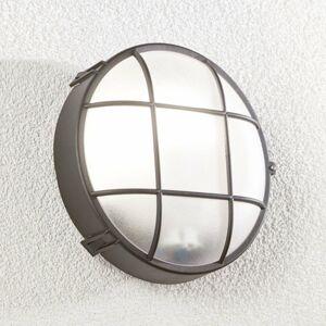 Lindby Vonkajšie nástenné svietidlo Alisha okrúhle čierne