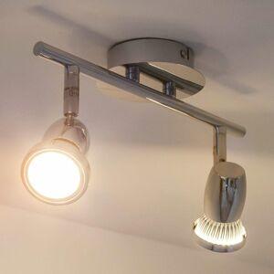 Lindby Stropné LED svietidlo Arminius, 2-plameňové