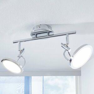 Lindby Stropné LED svietidlo Jorne chrómované 2-plameňové