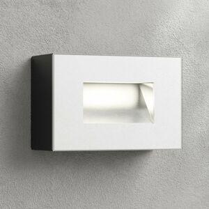 Lampenwelt.com Vonkajšie nástenné LED svetlo Jody 12 cm hranaté