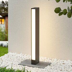 Lucande Chodníkové LED svietidlo Lirka tmavosivé 2pl