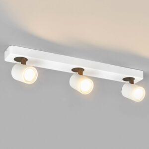 Lindby Troj-plameňové LED svetlo Sean v bielej