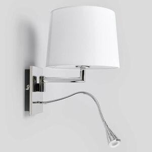 Lucande Biele nástenné svetlo Siv s lampou na čítanie