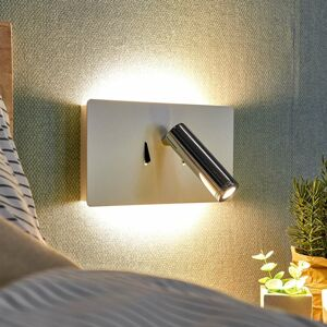 Lucande Nástenné LED svietidlo Elske s lampou na čítanie