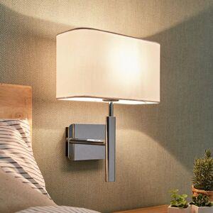 Lampenwelt.com Nástenné svetlo Jettka textilné tienidlo a vypínač