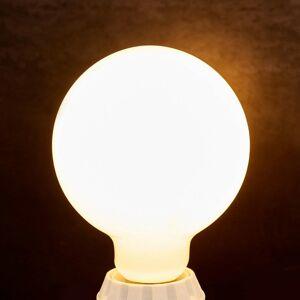 Lindby LED guľová žiarovka E27 8W, 880 lm, 2700K, opál