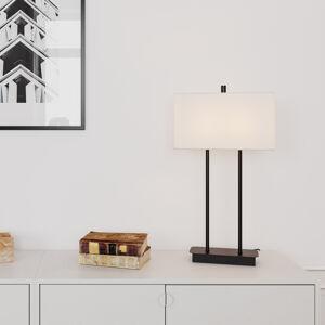 By Rydéns By Rydéns Luton stolná lampa, biela/čierna, 56cm