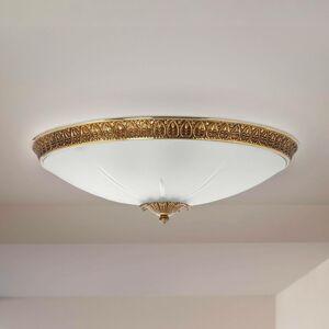 RIPERLamP Stropné svietidlo Azalea zlatá patina biela Ø 34cm