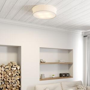 BRITOP Stropné svietidlo Cassy s clonou, biele, Ø 58cm