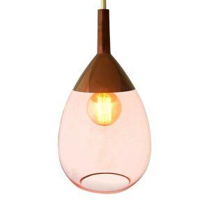 EBB & FLOW EBB & FLOW Lute závesná lampa ružová s meďou