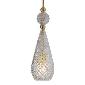 EBB & FLOW EBB & FLOW Smykke závesná lampa zlatá, krištáľ