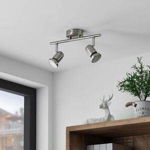 ELC ELC Simano stropné LED svietidlo nikel 2-plameňové