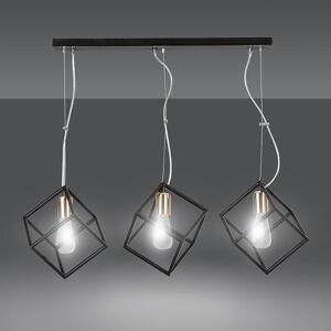 EMIBIG LIGHTING Závesná lampa Ambition 3, 3-plameňová čierno-zlatá