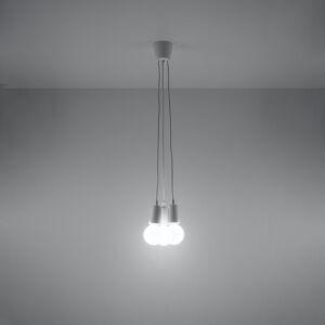 SOLLUX Závesná lampa Brasil, biela, troj-plameňová